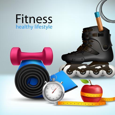 Sfondo di stile di vita fitness vettore