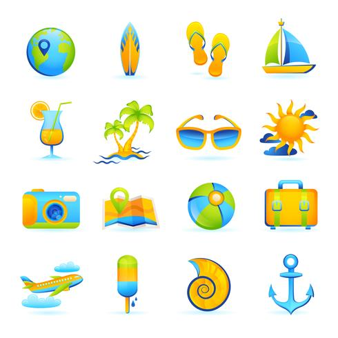 Summer Vacation Set vector