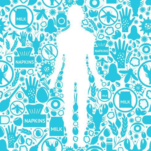 Allergiesymptome Hintergrund