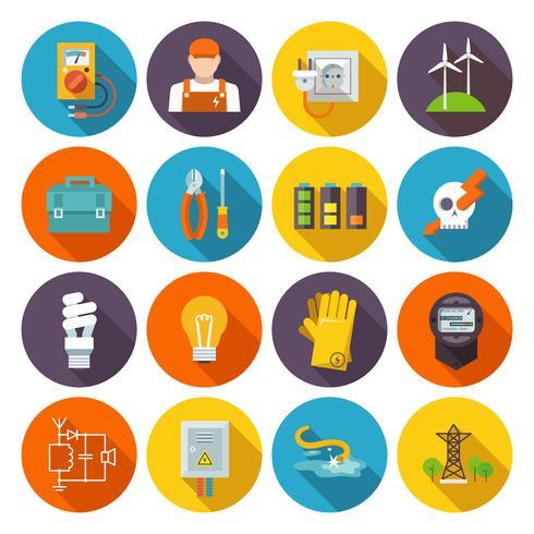 Icono de electricidad plana vector