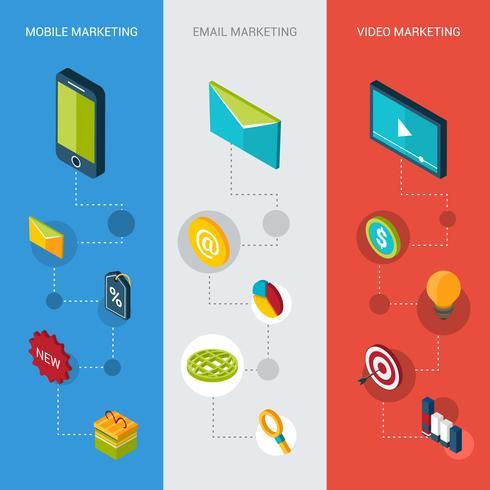 Marketing bannières isométriques