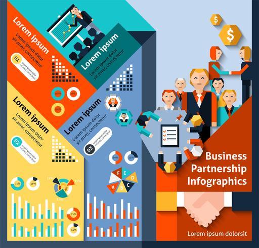 Sociedad de negocios infografía vector