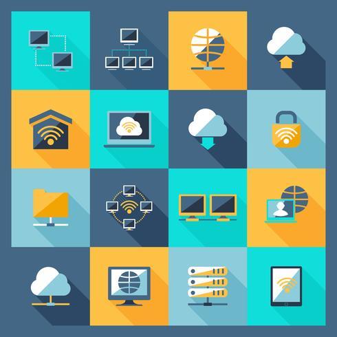 Icone di rete piatte