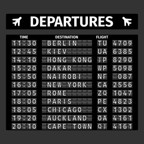 Flygplatsens avgångsstyrelse