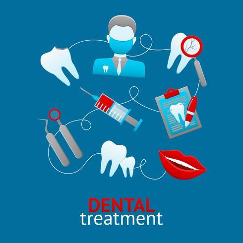 Concetto di design dentale vettore