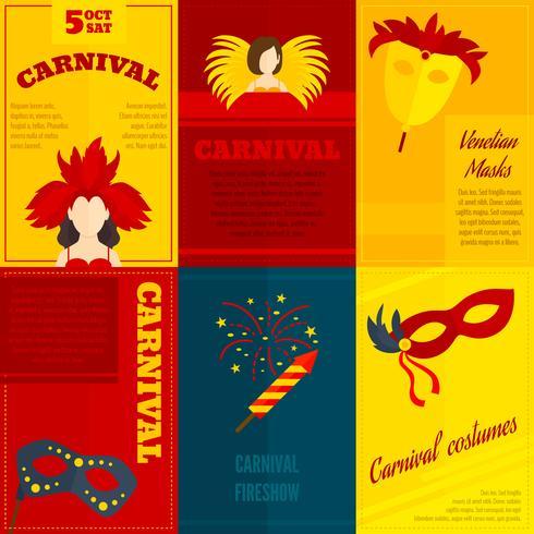Karneval ikoner sammansättning affisch