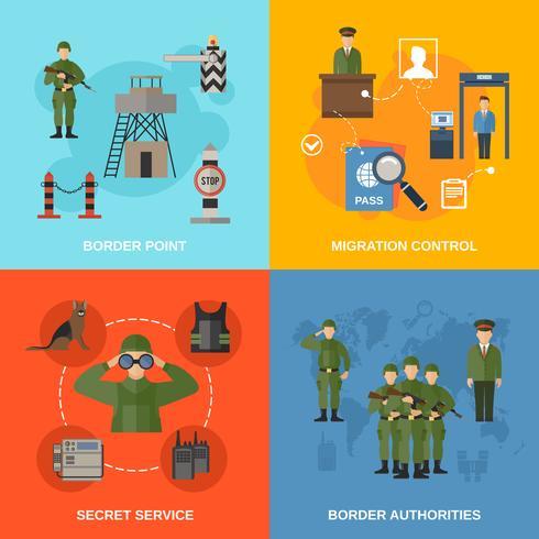 Guardia de fronteras plana vector