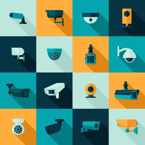 Beveiligingscamera-icoon vector