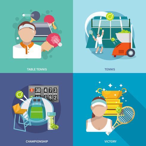 Set de tennis plat