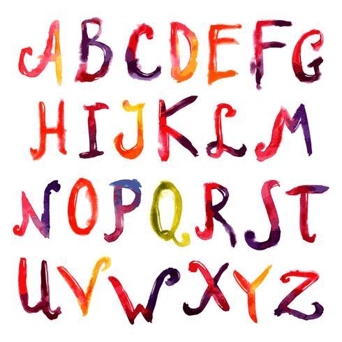 Alphabet dessiné à la main