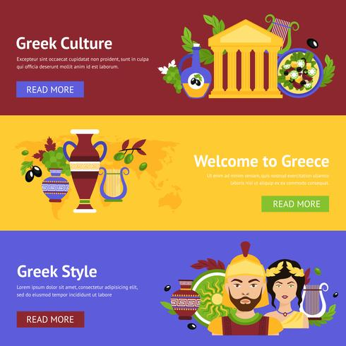 Grekland banner set vektor