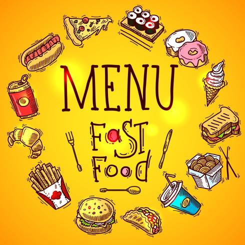 Menu de Fast Food