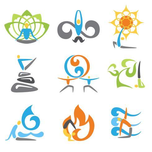 Yoga Emblems Set