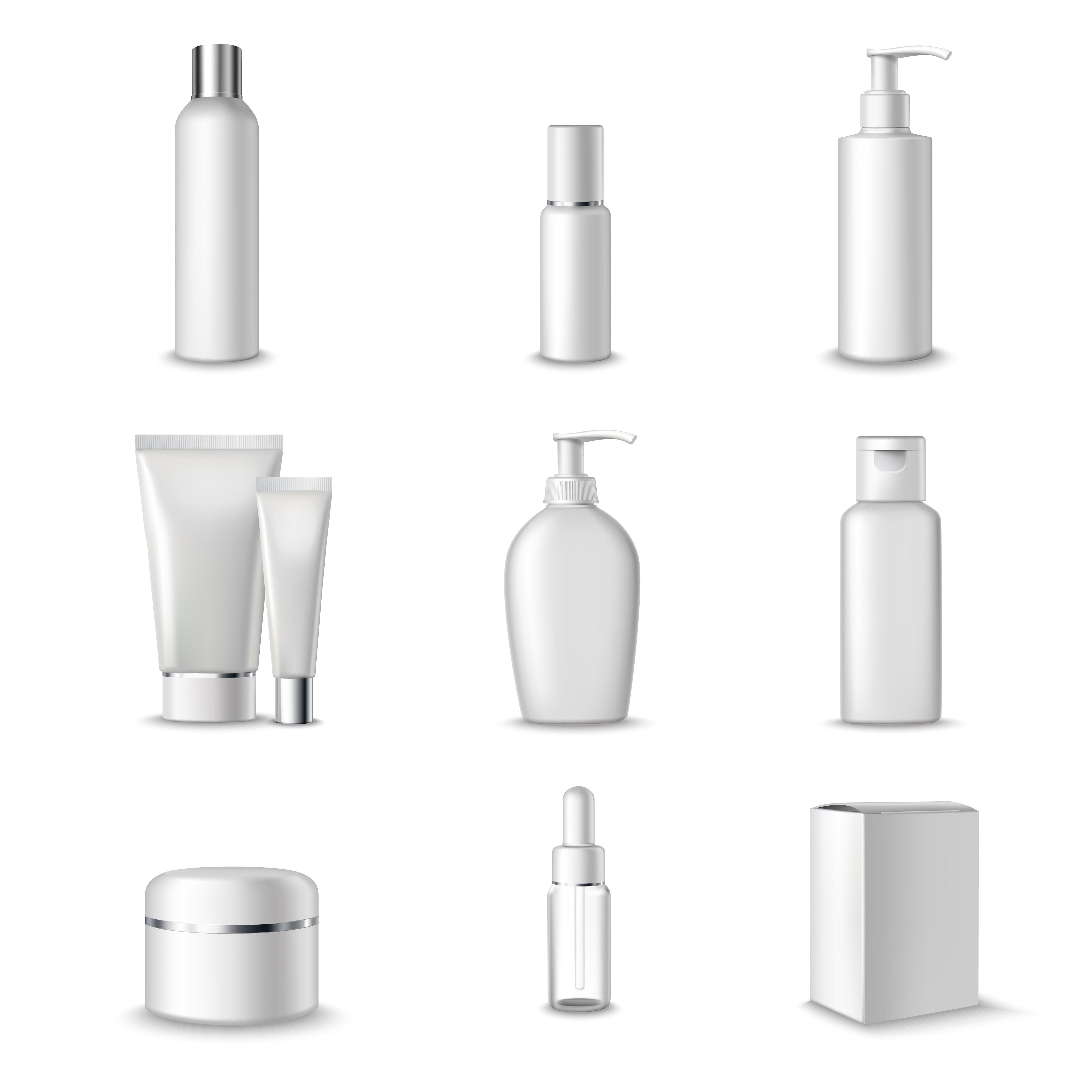 Cosmetics Packages Set Download Free Vectors Clipart