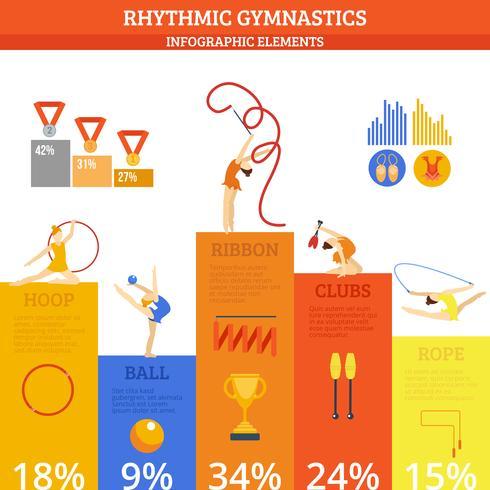 Gymnastik Infographics Set