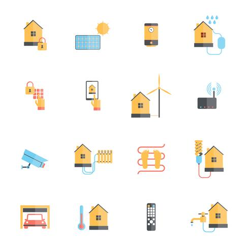 Smart Home Icon Flat