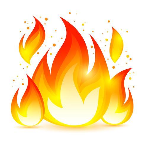 Icono decorativo de fuego vector