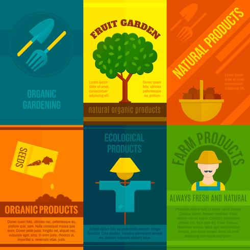 Ekologiska affischer Set