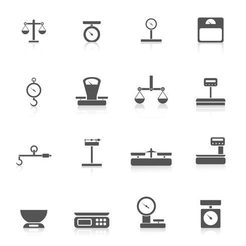 Gewicht pictogram schalen