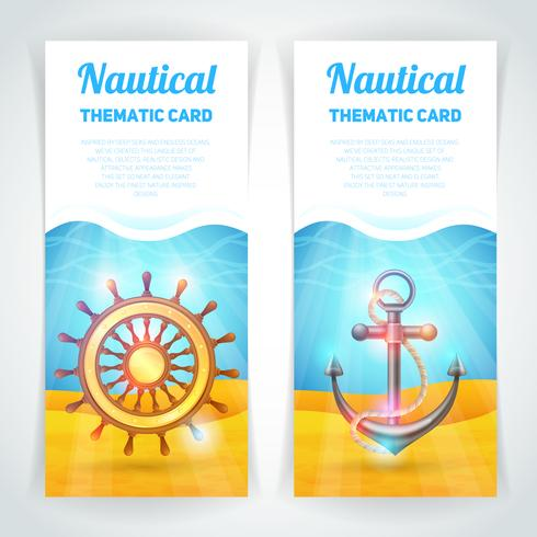 Marine Banners Set vector