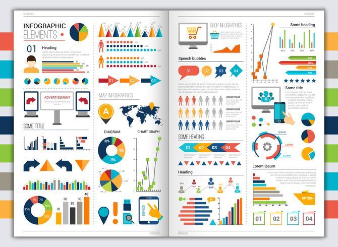 platt infografisk uppsättning vektor