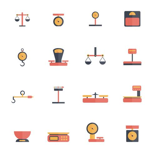 Scales Weight Icon Flat vector