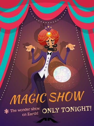 Poster dello spettacolo magico vettore