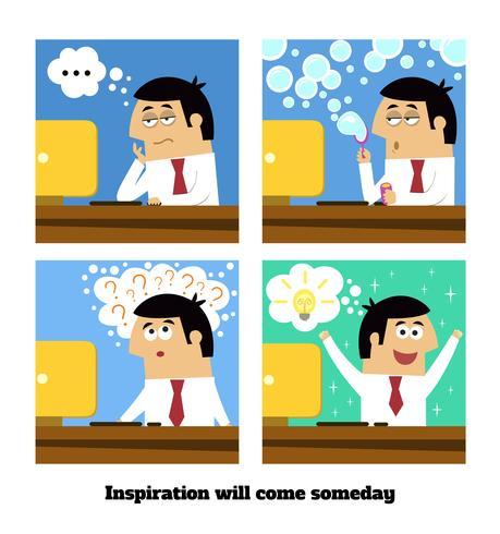 Inspiratie zal komen