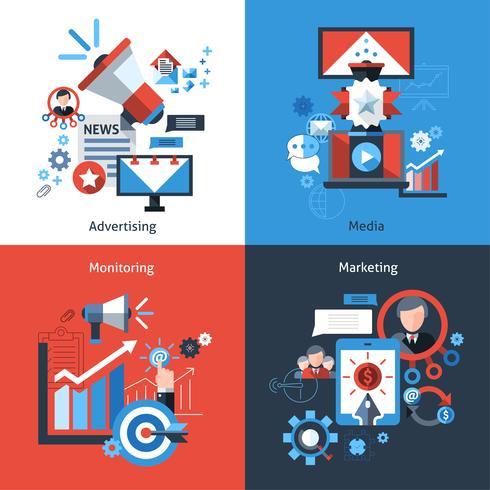 Set di marketing pubblicitario