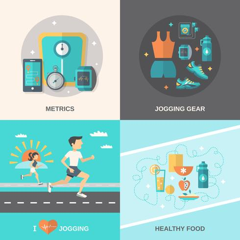 Jogging conjunto plana