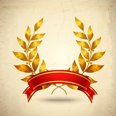 Corona de laurel realista
