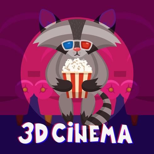 Cartaz do cinema do guaxinim
