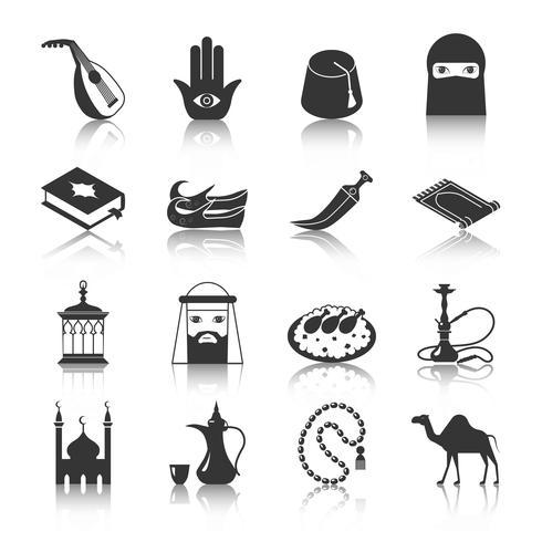 Ícone da cultura árabe vetor