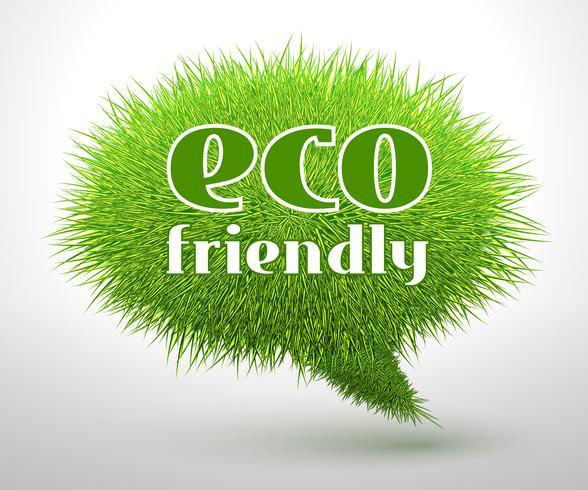 Concepto ecológico o emblema.