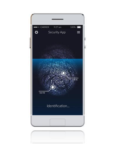Telefon Scannen Fingerabdruck
