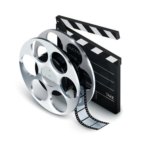 Cinema Concept Realistisch vector