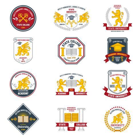 Etiquetas Universitarias De Color
