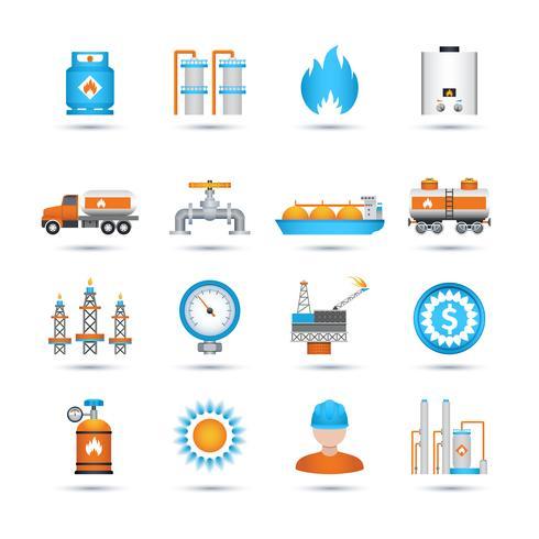 Set di icone di gas