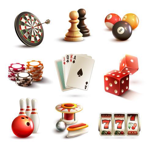 Conjunto de iconos de juego vector