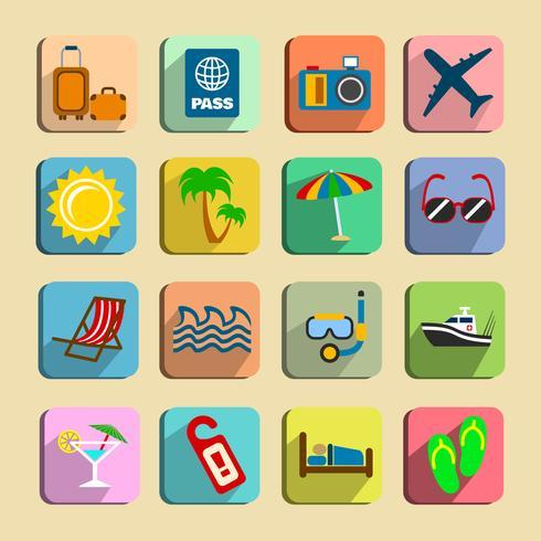 Conjunto de ícones de turismo global