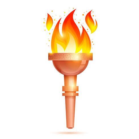 Torch Icon Isolated