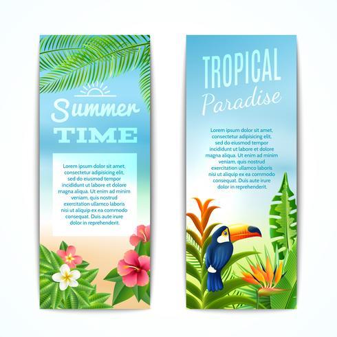 Tropische Sommerfahne