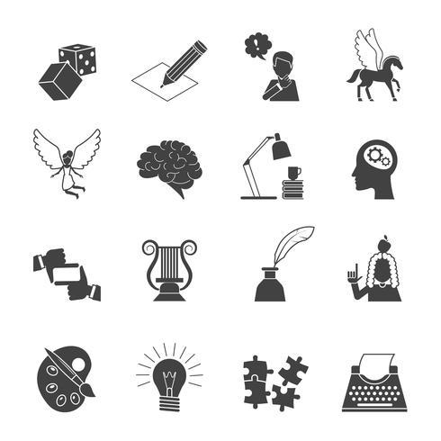 Conjunto de iconos de musa vector