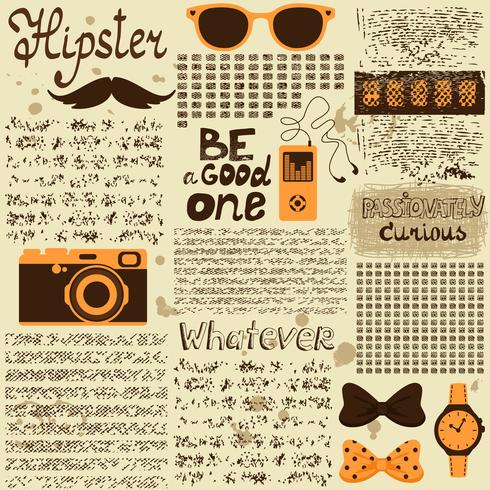 Hipster sömlös vintage tidning