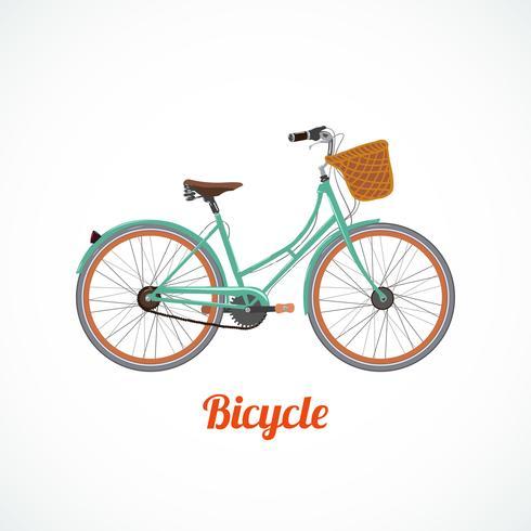 Symbole de vélo vintage vecteur
