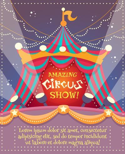 Zirkus-Weinlese-Plakat