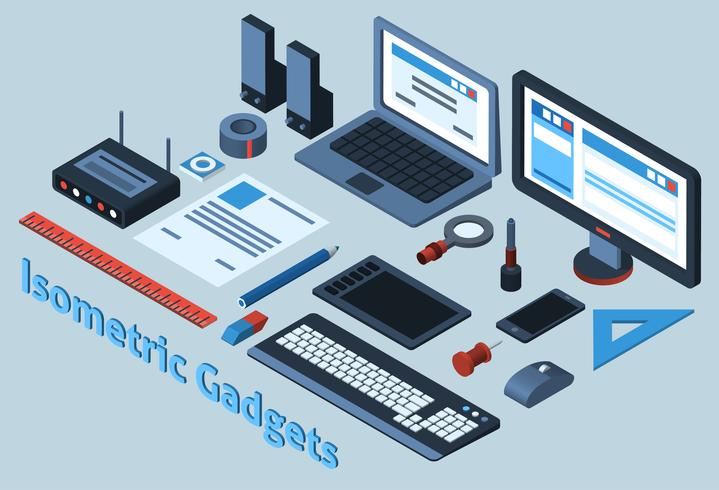 Isometric Gadgets Set