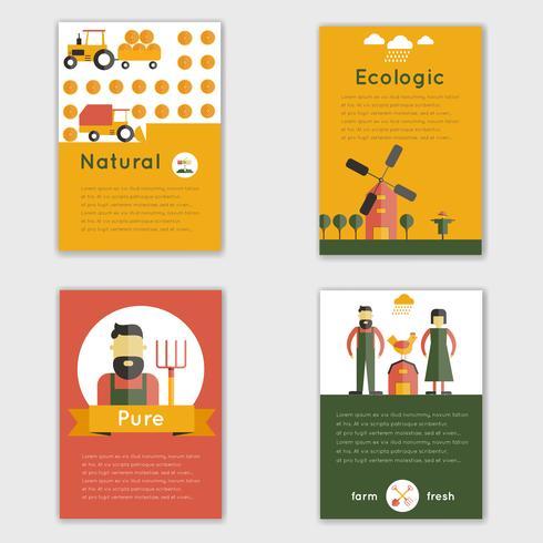Farm Fresh Brochure vector