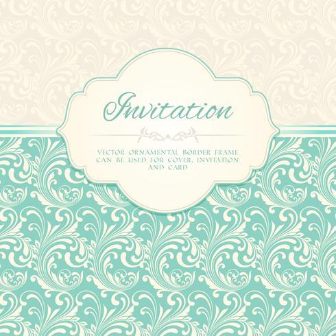 Dekorative Muster Einladungskarte
