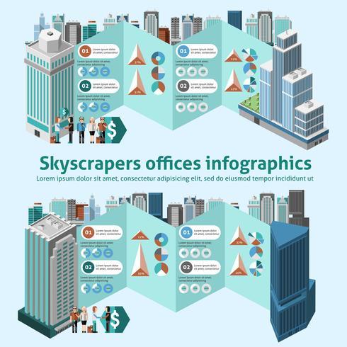 Wolkenkratzer-Büros Infografiken